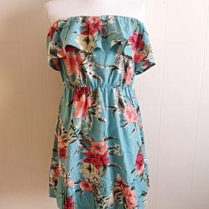 EUC ASOS ruffled floral print dress